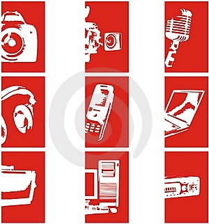 Electronic Icons 2 Stock Photos - Image: 7814483