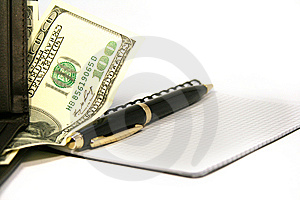 Notepad With Pen Stock Image - Image: 7815191