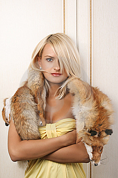 Attractive Woman Posing For The Camera Stock Images - Image: 7816474