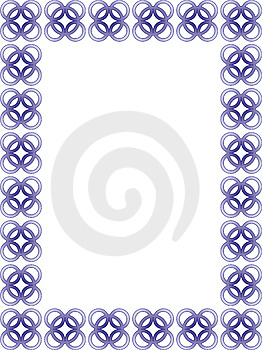 Delicate Blue Border - Vector Royalty Free Stock Photo - Image: 7816645