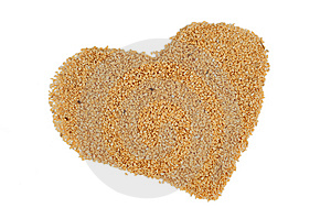 Sesame Heart Royalty Free Stock Photo - Image: 7816905
