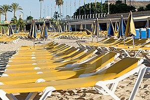 Hammocks Near The Seaside In Yellow Royalty Free Stock Photography - Image: 7817887