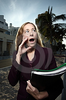 Businesswoman In Shock Stock Photos - Image: 7819013