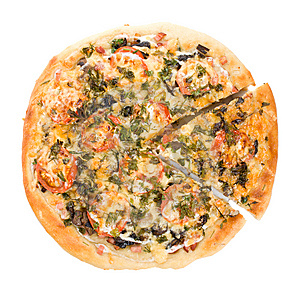 Big Pizza With Forest Mushrooms Stock Photo - Image: 7821490