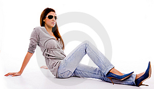 Young Female With Sunglasses Looking Aside Royalty Free Stock Images - Image: 7823329