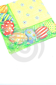 Easter Coloured Napkin Royalty Free Stock Image - Image: 7824066