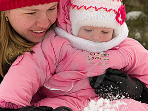 Mother And Daughter At Winter Stock Photo - Image: 7825390