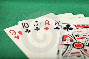 Cards Laydown Straight Stock Photography - Image: 7825532