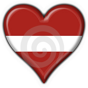 Latvia Button Flag Heart Shape Stock Photos - Image: 7829053