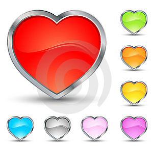 Hearts Icons Stock Photography - Image: 7829222