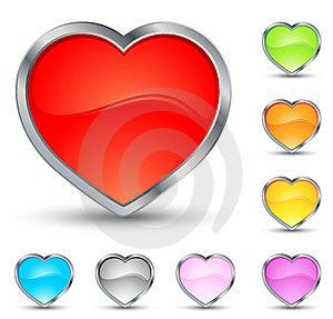 εικονίδια καρδιών Στοκ Φωτογραφία - εικόνα: 7829222