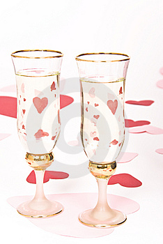 Two Glasses  Of White Stock Photo - Image: 7829420