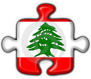 Lebanon Button Flag Puzzle Shape Stock Photo - Image: 7829620