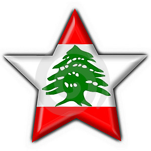 Lebanon Button Flag Star Shape Stock Photography - Image: 7829622