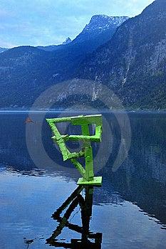 Montañas De La Opinión Del Lago Austria Hallstatt Del Arte De Absolut Imágenes de archivo libres de regalías - Imagen: 7829669