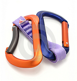 Carabiner And Express Isolated Royalty Free Stock Images - Image: 7829999