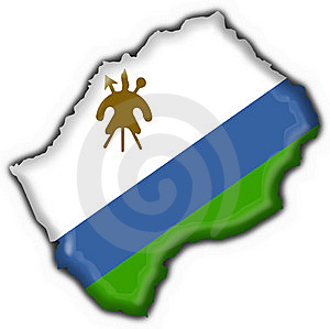Lesotho Button Flag Map Shape Royalty Free Stock Image - Image: 7830316