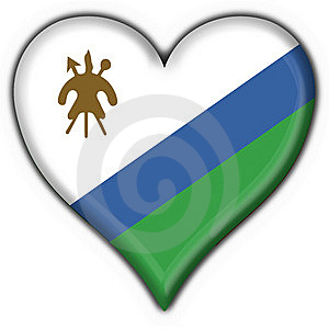 Lesotho Button Flag Heart Shape Royalty Free Stock Photography - Image: 7830327