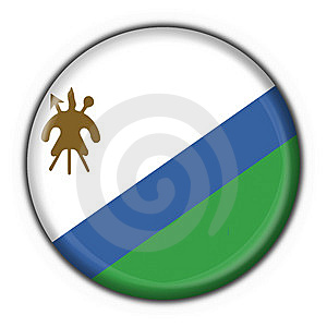 Lesotho Button Flag Round Shape Royalty Free Stock Photos - Image: 7830328