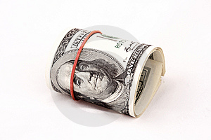 Convolutions Of Hundreds Dollars Banknotes Royalty Free Stock Photography - Image: 7830427