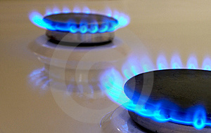 Flames Of Gas Stove Royalty Free Stock Photos - Image: 7831038