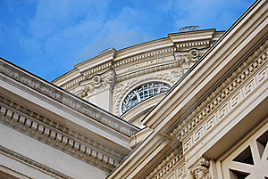 Romanian Atheneum,detail Royalty Free Stock Photography - Image: 7831077