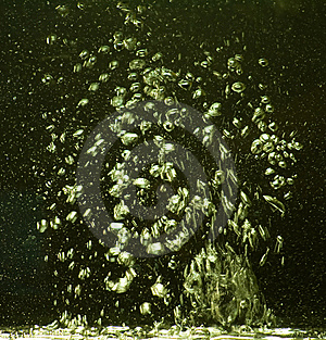 Movement Of Bubbles Of Water In Space Stock Images - Image: 7831634