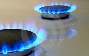 Flames Of Gas Stove Stock Image - Image: 7831871