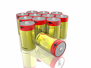 3d Batteries Stock Photography - Image: 7832062