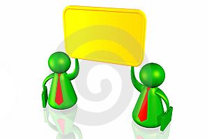 Business Mens And Blank Board Stock Image - Image: 7832961