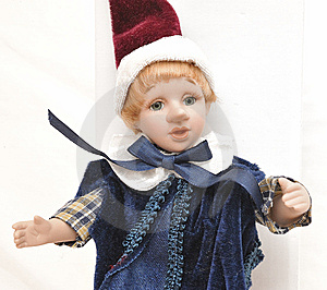 Detailed Home Made Blonde Hair Porcelain Pinocchio Stock Image - Image: 7833051