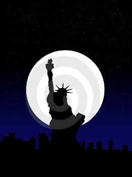 Statue Of Liberty And New York City Royalty Free Stock Image - Image: 7833756