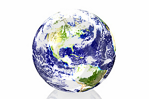 Earth In White Background Stock Images - Image: 7834264