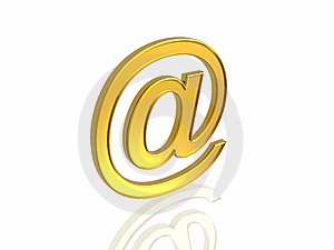 Golden E-mail Symbol Royalty Free Stock Photo - Image: 7834585