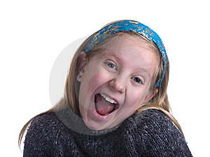 Ecstatic Girl In Sweater Stock Photo - Image: 7835300
