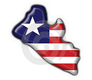 Liberia Button Flag Map Shape Royalty Free Stock Photography - Image: 7837187