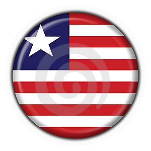 Liberia Button Flag Round Shape Royalty Free Stock Photos - Image: 7837188