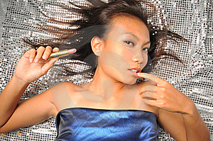 Asian Chinese Woman In Teasing Pose Stock Images - Image: 7839964