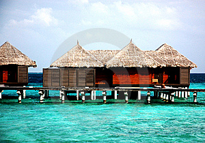 Water Villas Royalty Free Stock Image - Image: 7841236