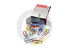 Paper Clips Poured From Box Stock Images - Image: 7842444