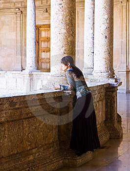 Young Woman In Palace Stock Photography - Image: 7842602
