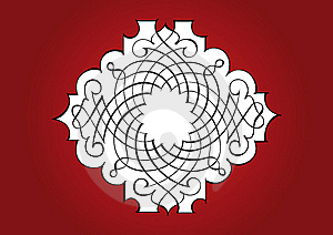 Ornamental Red Frame Stock Photography - Image: 7842752