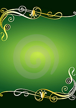 Floral Green Frame Stock Photography - Image: 7843062