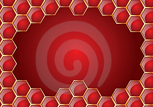 Honeycomb Frame Royalty Free Stock Image - Image: 7843086