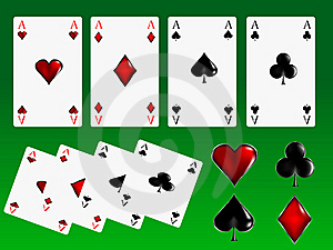 Poker Cards Signs Royalty Free Stock Image - Image: 7843886
