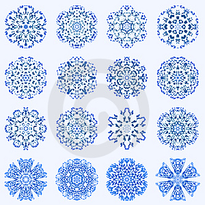 Some Of My Snowflakes Royalty Free Stock Image - Image: 7844766