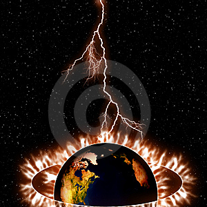 Dark Earth And Space Stock Photography - Image: 7846842
