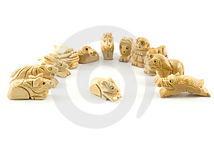 Mouse(Woodcarving Chinese Sign) Royalty Free Stock Photos - Image: 7847488