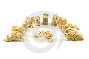 Tiger(Woodcarving Chinese Sign) Royalty Free Stock Photography - Image: 7847517