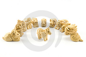 Horse(Woodcarving Chinese Sign) Stock Photo - Image: 7847560